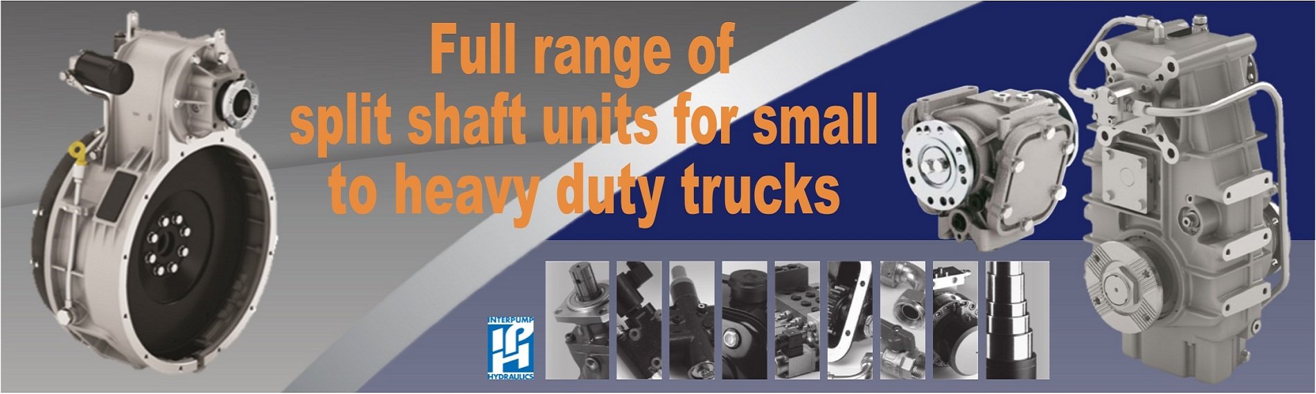 Full range of split shaft units for small to heavy duty trucks